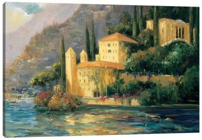 Lake Villa Canvas Art Print