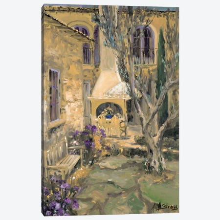 Peaceful Patio Canvas Print #AYN24} by Allayn Stevens Canvas Art Print