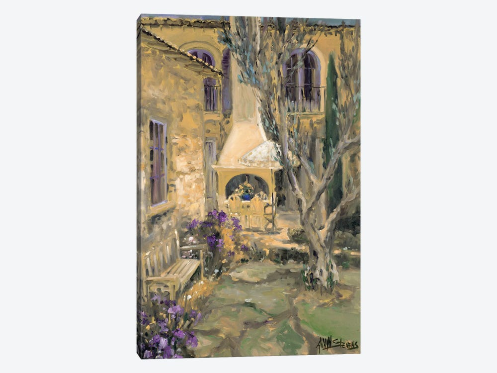 Peaceful Patio by Allayn Stevens 1-piece Canvas Art