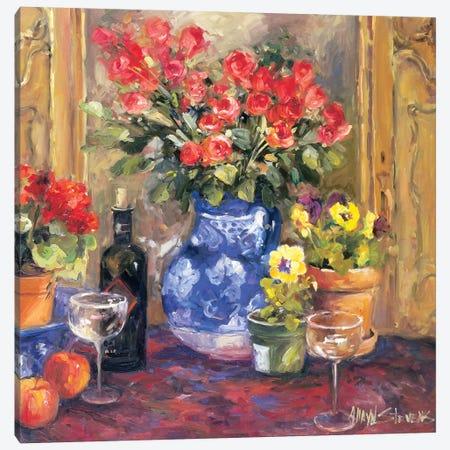 Red Flowers Canvas Print #AYN25} by Allayn Stevens Canvas Print
