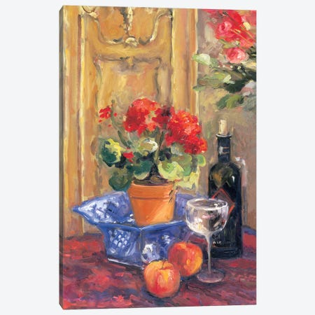 Red Flowers, Detail II Canvas Print #AYN27} by Allayn Stevens Art Print