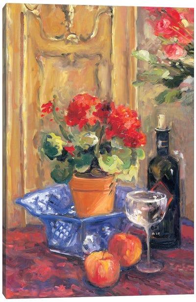 Red Flowers, Detail II Canvas Art Print
