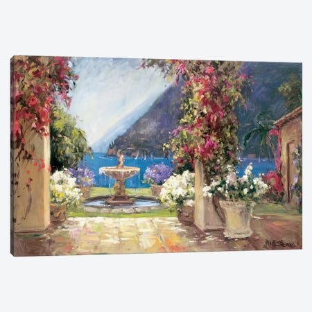 Seaside Fountain 3-Piece Canvas #AYN31} by Allayn Stevens Canvas Print