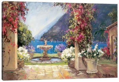 Seaside Fountain Canvas Art Print