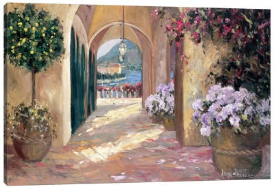 Seaside Portico Canvas Art Print