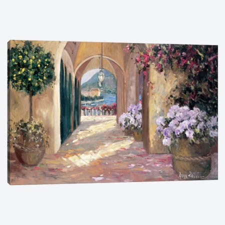 Seaside Portico 3-Piece Canvas #AYN32} by Allayn Stevens Canvas Art Print