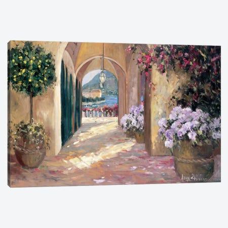 Seaside Portico Canvas Print #AYN32} by Allayn Stevens Canvas Art Print