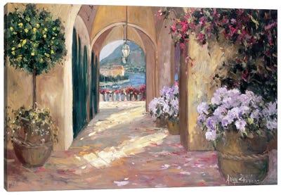 Seaside Portico Canvas Art Print