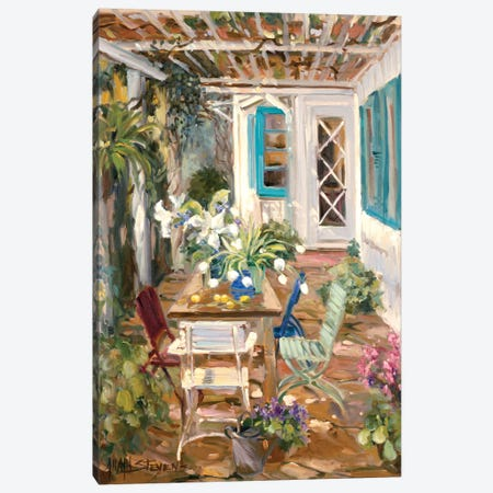 Summer Garden Canvas Print #AYN34} by Allayn Stevens Canvas Wall Art