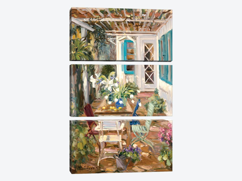 Summer Garden by Allayn Stevens 3-piece Canvas Art Print