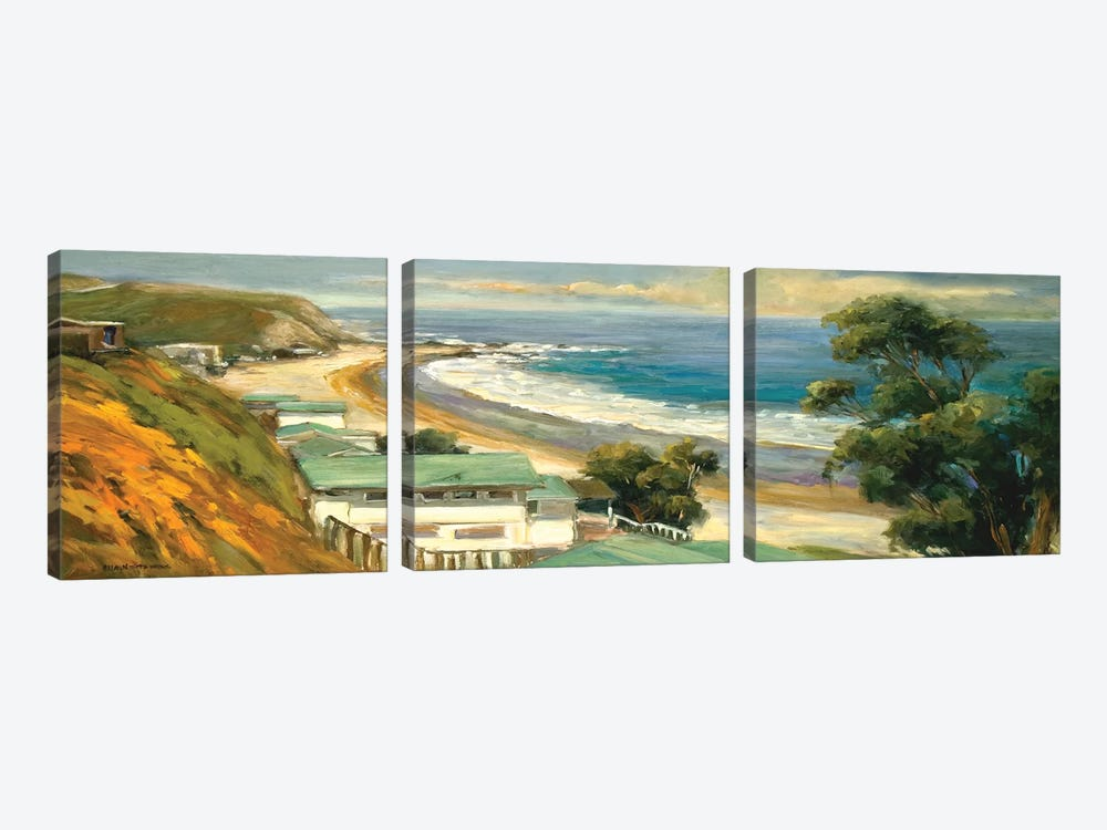 Sunlit Cove by Allayn Stevens 3-piece Canvas Art