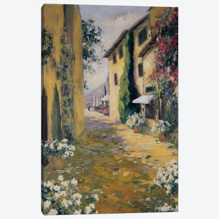 Sunlit Villa I 3-Piece Canvas #AYN38} by Allayn Stevens Art Print
