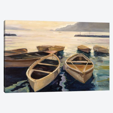 Sunset Marina Canvas Print #AYN40} by Allayn Stevens Canvas Wall Art