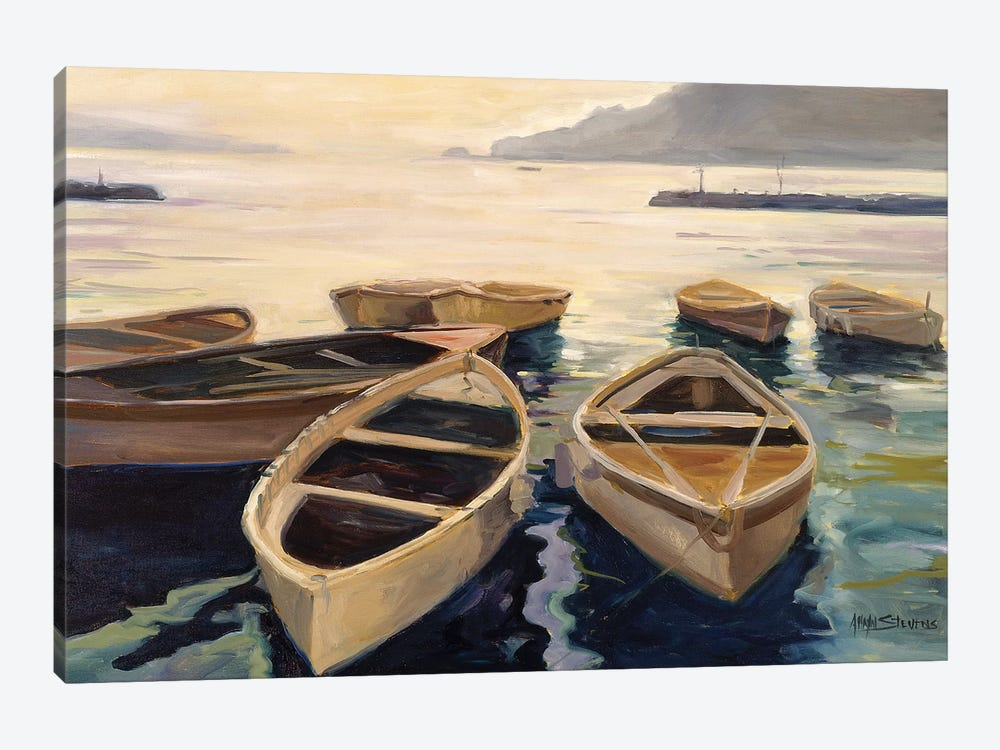 Sunset Marina by Allayn Stevens 1-piece Canvas Art