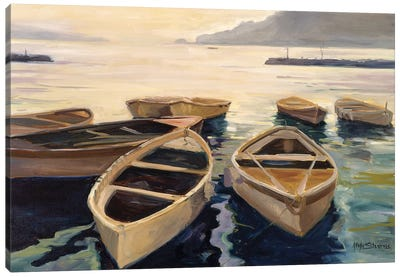 Sunset Marina Canvas Art Print