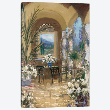 The Veranda I Canvas Print #AYN42} by Allayn Stevens Canvas Wall Art