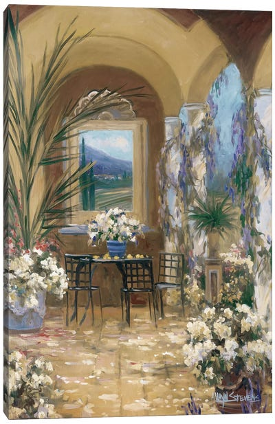 The Veranda I Canvas Art Print