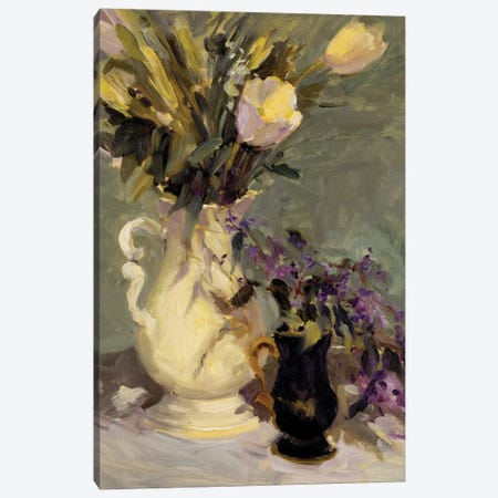 Tulips And Lavender Canvas Print #AYN46} by Allayn Stevens Art Print