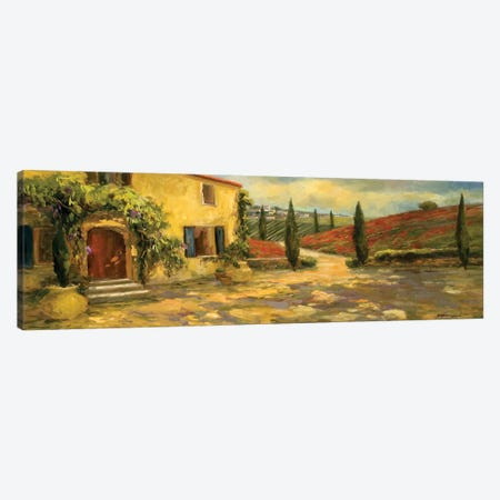 Tuscan Fields Canvas Print #AYN47} by Allayn Stevens Canvas Art Print