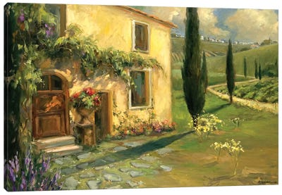 Tuscan Spring Canvas Art Print