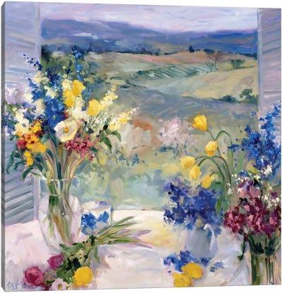 Tuscany Floral Canvas Art Print