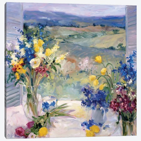 Tuscany Floral Canvas Print #AYN49} by Allayn Stevens Canvas Wall Art