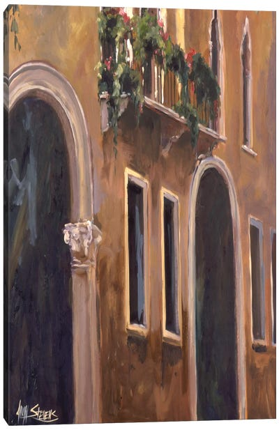 Venice Windows Canvas Art Print