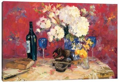 White Bouquet Canvas Art Print