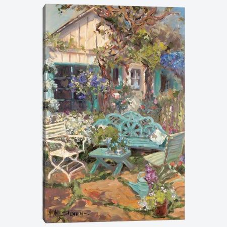 Coastal Cottage Canvas Print #AYN6} by Allayn Stevens Canvas Wall Art