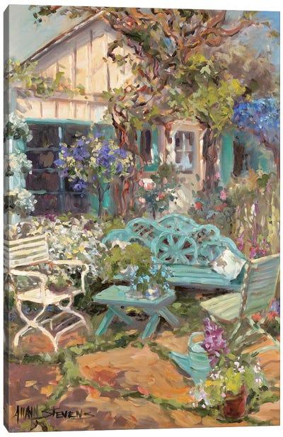 Coastal Cottage Canvas Art Print