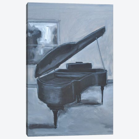 Blue Piano Canvas Print #AYN75} by Allayn Stevens Canvas Wall Art