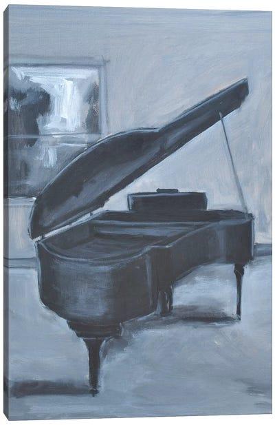 Blue Piano Canvas Art Print