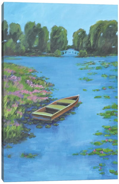 Boat Pond Canvas Art Print