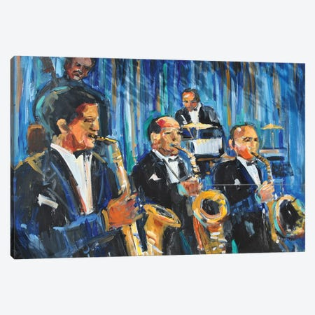 Horn Section Canvas Print #AYN84} by Allayn Stevens Canvas Art Print