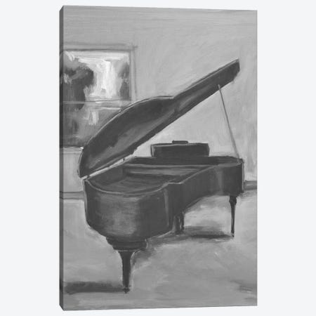 Piano In Black And White I Canvas Print #AYN91} by Allayn Stevens Canvas Print