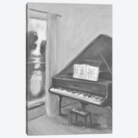 Piano In Black And White II Canvas Print #AYN92} by Allayn Stevens Canvas Print