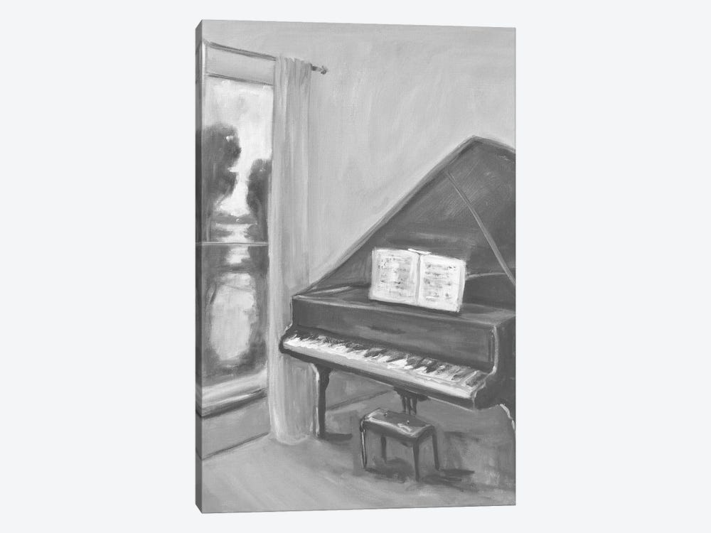 Piano In Black And White II by Allayn Stevens 1-piece Art Print
