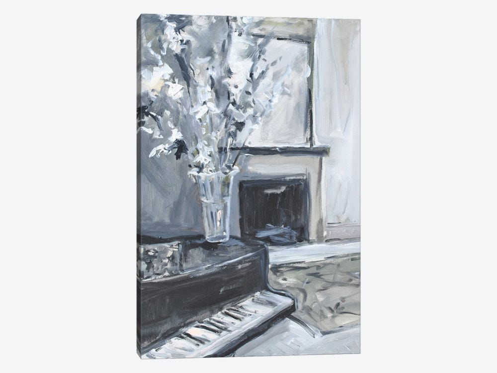 Piano & Fireplace by Allayn Stevens 1-piece Canvas Wall Art