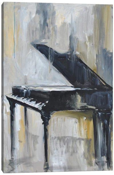 Piano Gold Canvas Art Print
