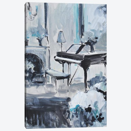 Piano In Blue III Canvas Print #AYN96} by Allayn Stevens Canvas Art