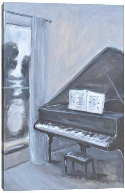 Piano With A View Canvas Art Print