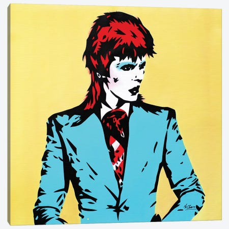 David Bowie: Life On Mars Canvas Print #BAE10} by MR BABES Canvas Wall Art