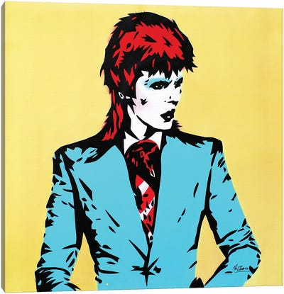 David Bowie: Life On Mars Canvas Art Print