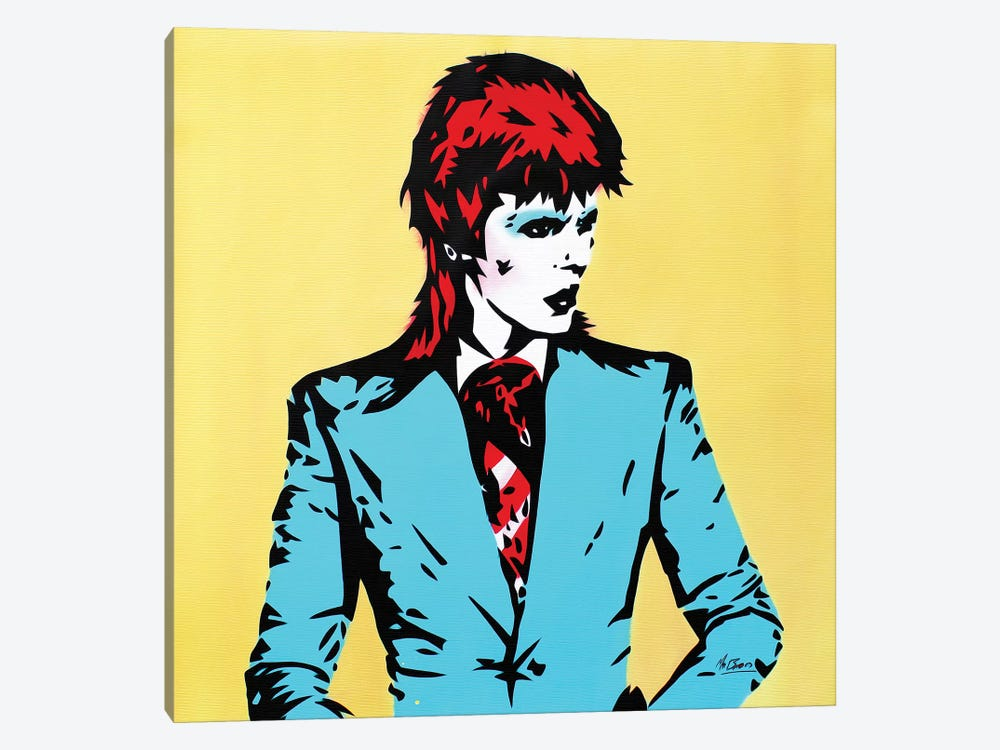 David Bowie: Life On Mars by MR BABES 1-piece Canvas Art Print