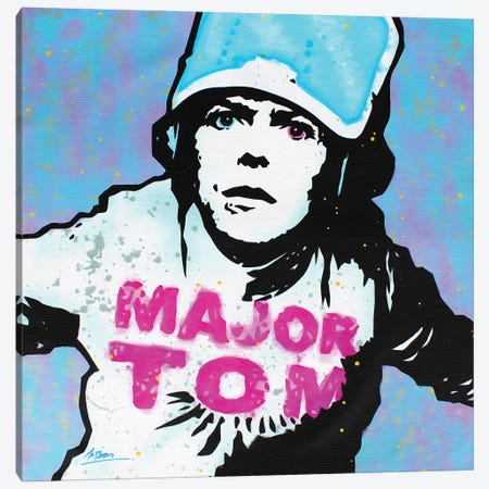 David Bowie: Major Tom Canvas Print #BAE11} by MR BABES Canvas Art