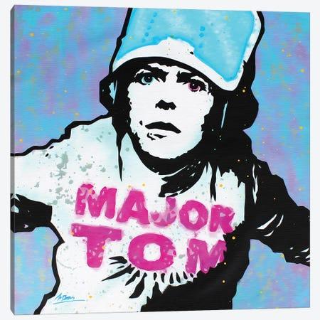 David Bowie: Major Tom Canvas Print #BAE11} by MR BABES Canvas Art