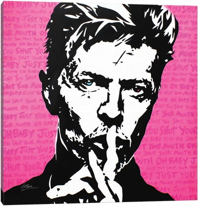 David Bowie: Shh Canvas Art Print