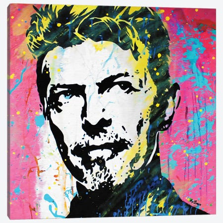 David Bowie: The Man Who Changed The World Canvas Print #BAE13} by MR BABES Canvas Wall Art