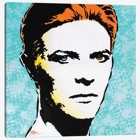 David Bowie: The Man Who Fell To Earth Canvas Print #BAE14} by MR BABES Canvas Art Print