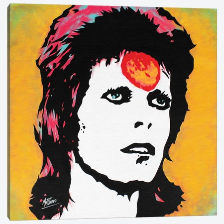 David Bowie: Ziggy Stardust Canvas Print #BAE15} by MR BABES Canvas Art Print
